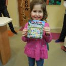 Even Dr. Stephen's daughter Nava loves putting stickers on her chart and picking a prize!
